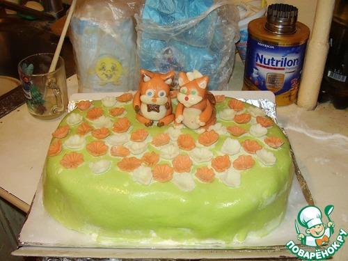 Как торт наполеон покрыть мастикой
