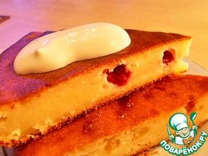 Рецепт Творожный пирог с клюквой и яблоками