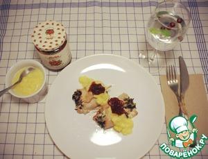 Рецепт Рулеты из индейки с соусом из тыквы и клюквы