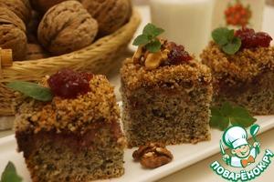 Рецепт Нежный маково-ореховый пирог