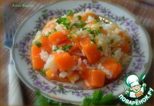 Рецепт Тыква, тушеная с рисом