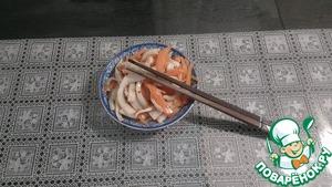 Рецепт Морковь с кальмаром по корейски