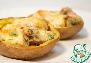 Рецепт Английские чипсы (Potato Skins) с начинкой
