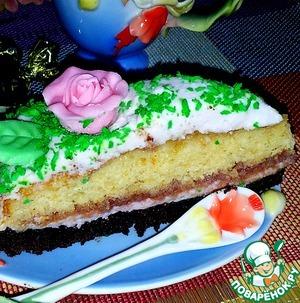 "Рецепт Торт ""Розовая поляна"""