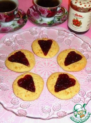 Рецепт Печенье с клюквенным соусом