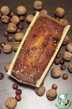 Рецепт Сметанный кекс с ореховым пралине