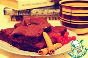 Рецепт Брауни с темным шоколадом