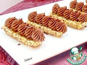 Рецепт Ореховое пирожное с шоколадным кремом