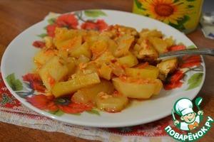 Рецепт Картошечка с куриным филе и аджикой