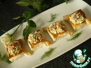 Рецепт Корзиночки с сыром и семгой