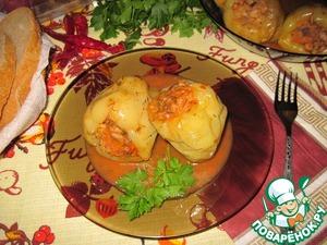 Рецепт Перец, фаршированный ячневой крупой и белыми грибами