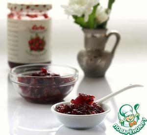 Рецепт Мармелад из красного лука с клюквой
