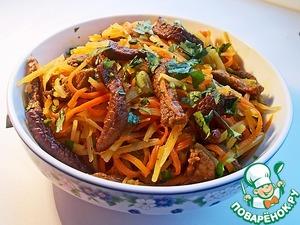 Рецепт Острый салат с говядиной и кинзой