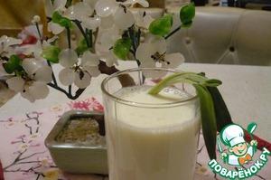 Рецепт Медовый коктейль с пахтой