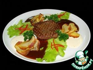 Рецепт Стейк из говядины в сливочно-перечном соусе