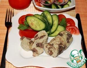 Рецепт Куриные колбаски с сердечками и сыром