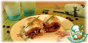 Рецепт Филе индейки, фаршированное яблоками и изюмом