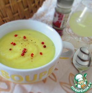 Рецепт Суп-пюре с корневым сельдереем и яблоком