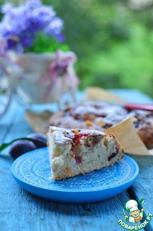 Рецепт Простой и быстрый пирог со сливами