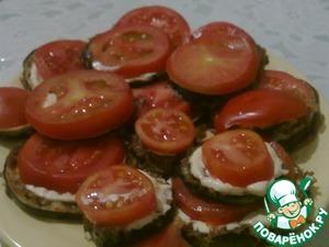 Рецепт Закуска из баклажанов с помидорами и чесночком