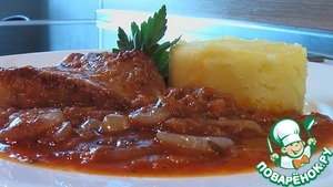 Рецепт Свинина в луковом соусе