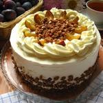 Лакомый сливовый торт
