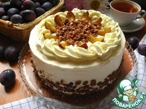 Рецепт Лакомый сливовый торт