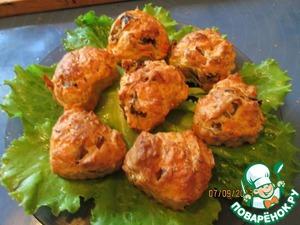 Рецепт Кабачковые кексы с грибами