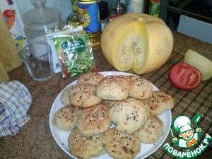 Рецепт Сытные булочки с тыквой и пармезаном