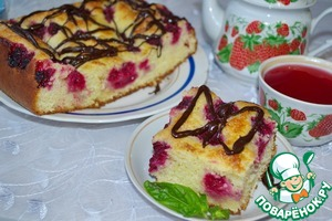 """Рецепт Дрожжевой пирог с малиной """"Без хлопот"""""""