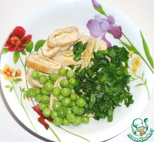 салаты с рисом и горошком рецепты