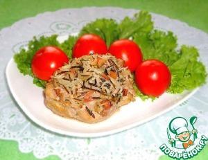 """Рецепт Куриные """"тарелочки"""" с рисом и ветчиной"""