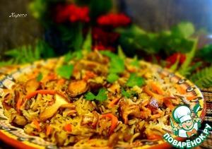 Рецепт Плов из дикого риса с лесными грибами