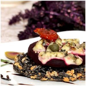 Рецепт Рисово-миндальная галета со свеклой и сыром
