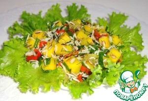 Рецепт Салат из риса, тыквы, болгарского перца и зелени