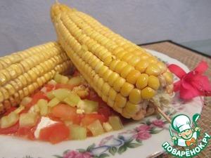 Рецепт Кукуруза запеченная на овощной подушке
