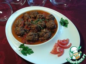 Рецепт Керук или фрикадельки тушеные с диким рисом