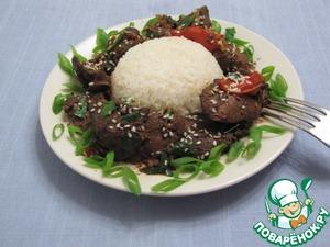 Рецепт Жигар сай (жареная печень)