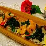 Дикий рис с морепродуктами
