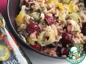 Рецепт Оранжевый салат с диким рисом и индейкой