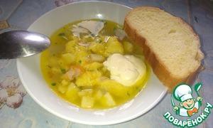 Рецепт Украинский суп с галушками