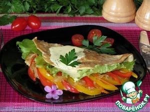 Рецепт Воздушный омлет с диким рисом и овощами