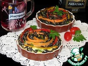 Рецепт Мини-запеканка с диким рисом и овощами