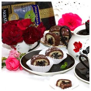 Рецепт Шоколадно-кокосовые рулетики с медовым рисом