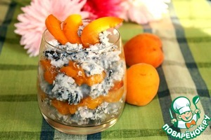 Рецепт Десерт из риса МИКС с абрикосами фламбе и имбирем