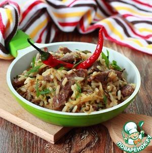 Рецепт Рис с капустой и телятиной