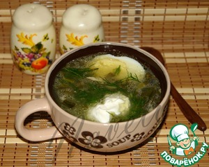 Рецепт Зеленые щи из ревеня
