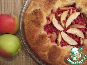 Рецепт Бруснично-яблочный пирог