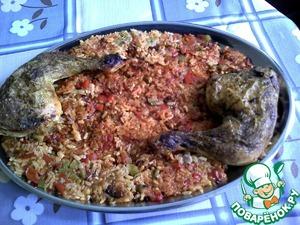 """Рецепт Рис """"КОККИНИСТО"""" с овощами и курицей в духовке"""