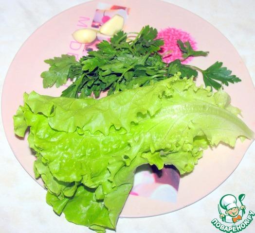 красный салат рецепт